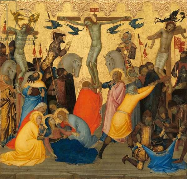 The Crucifixion, c.1380 (egg tempera & gold leaf on wood panel)