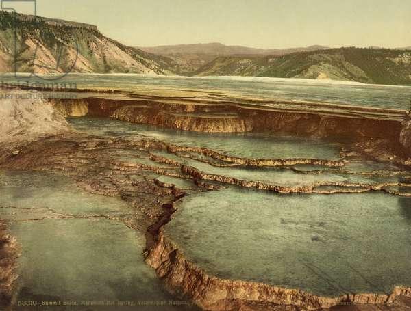 Summit Basin, Mammoth Hot Spring, Yellowstone National Park, c.1898 (photochrom)