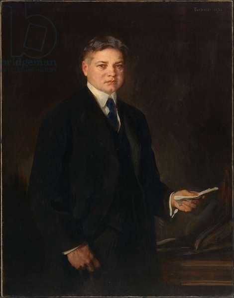 Herbert Clark Hoover (1874-1964), 1921 (oil on canvas)