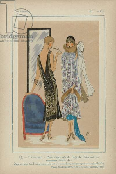 Très Parisien. La Mode, Le Chic, L'Elégance, 1925 (pochoir print)