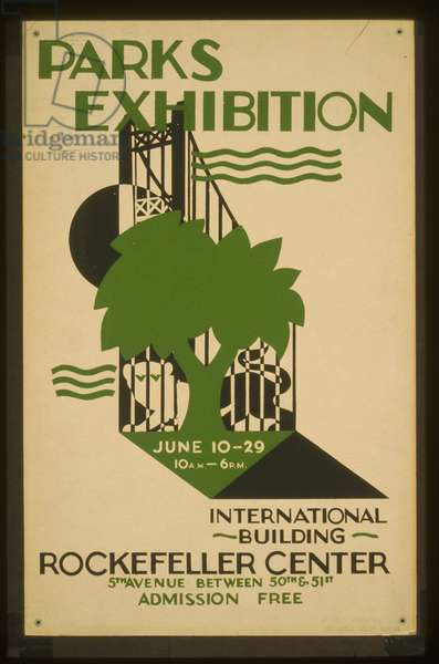 Parks Exhibition, International Building, Rockefeller Center, executed by Mayor's Poster Project, 1936-37 (litho)