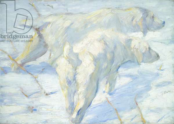 Siberian Dogs in the Snow, 1909-10 (oil on canvas)
