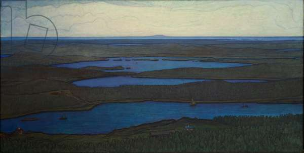 Over Forest and Lake, 1908 (oil on canvas)