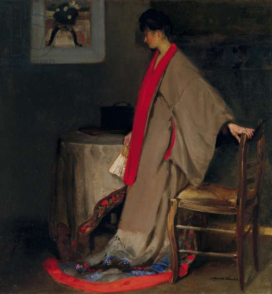 Young Woman in Kimono, c.1901 (oil on canvas)