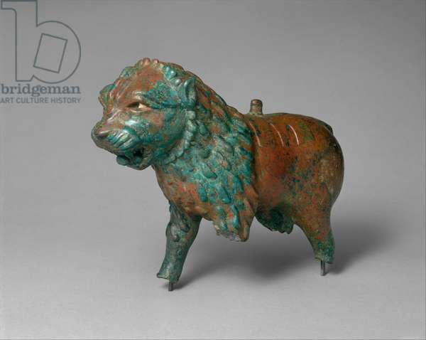 Figure of a lion, c.early to mid-1st millennium BC (copper alloy)