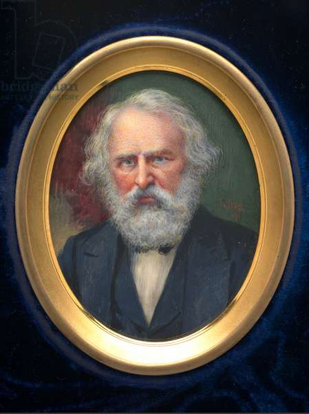 Henry Wadsworth Longfellow (1807-1882), 1871 (w/c on ivory)
