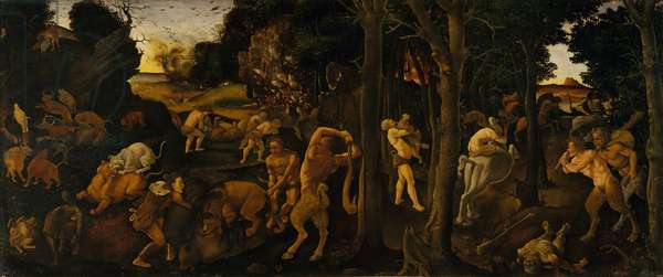 A Hunting Scene, c.1494-1500 (tempera and oil transferred to Masonite)