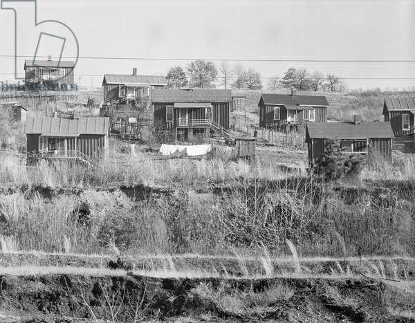Miners' houses near Birmingham, Alabama, 1935 (b/w photo)