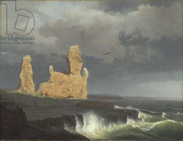 The Icelandic Coast, 1889 (oil on canvas)