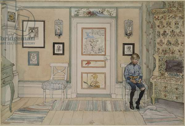 In the Corner, from 'A Home' series, c.1895 (w/c on paper)