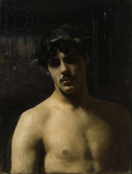 Man Wearing Laurels, 1874-80 (oil on canvas)