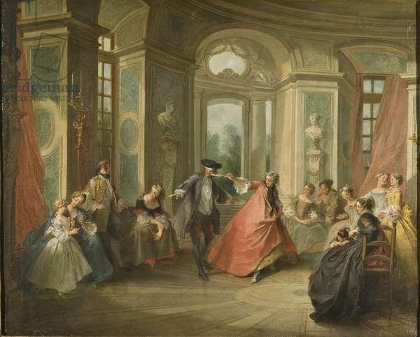 Blind Man's Buff, 1729 (oil on canvas)