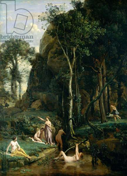Diana and Actaeon (Diana Surprised in Her Bath), 1836 (oil on canvas)