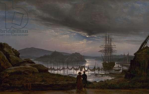 View from Vaekero near Christiania, 1827 (oil on canvas)