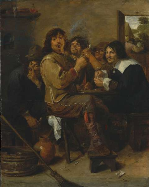 The Smokers, c.1636 (oil on wood)