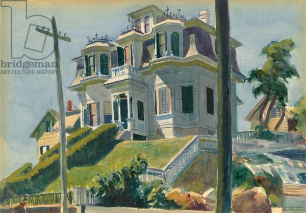 Haskell's House, 1924 (w/c over graphite on paperboard)