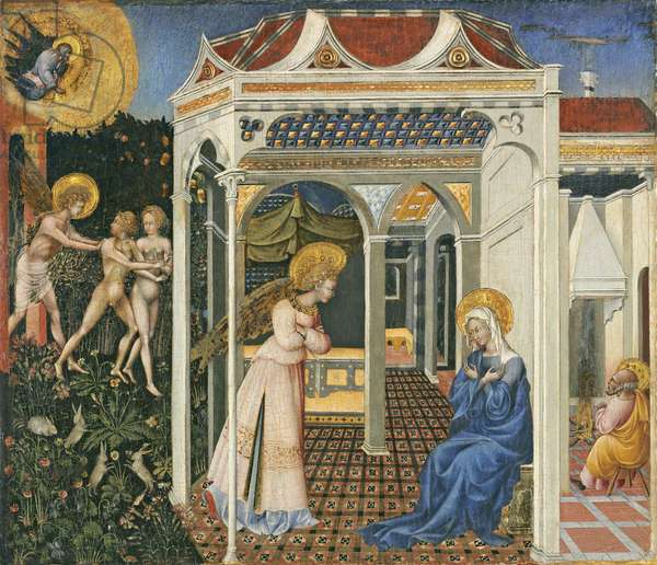 The Annunciation and Expulsion from Paradise, c. 1435 (tempera on panel)