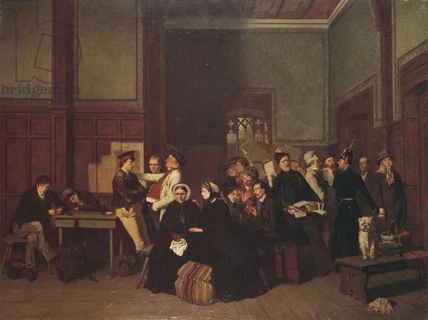 Third-Class Waiting-Room II, c.1865 (oil on canvas)