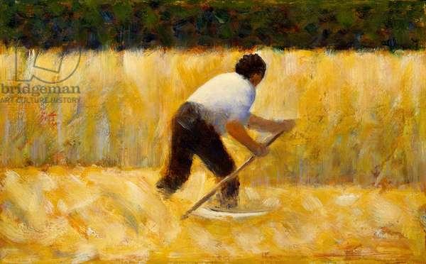 The Mower, 1881-82 (oil on wood)