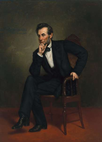 Abraham Lincoln (1809-1865), 1887 (oil on canvas)
