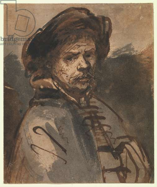 Self Portrait, 1635-40 (pen and brown ink)