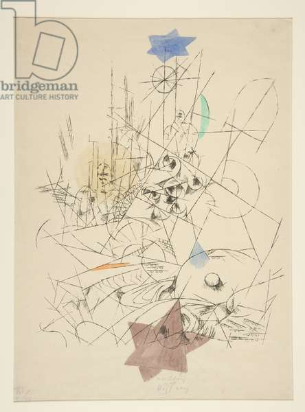 Destruction and Hope, 1916 (lithograph with watercolor and pencil on Japan paper)
