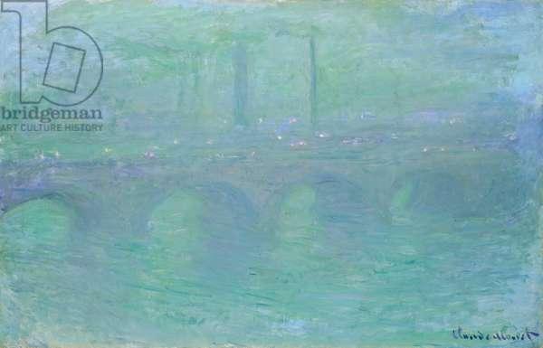 Waterloo Bridge at Dusk, 1904 (oil on canvas)