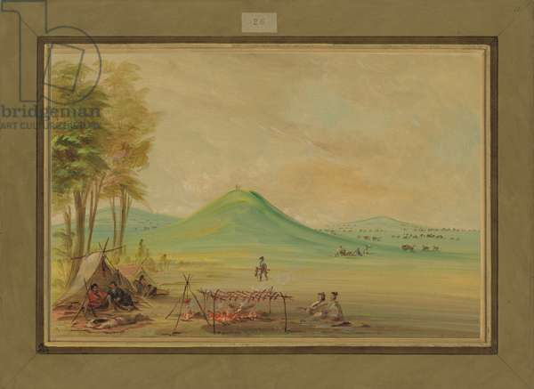 Expedition Encamped on a Texas Prairie, April 1686, 1847-48 (oil on canvas)