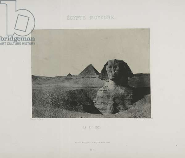 Le Sphinx, Egypt (b/w photo)