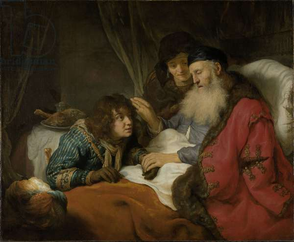 Isaac Blessing Jacob, c.1638 (oil on canvas)