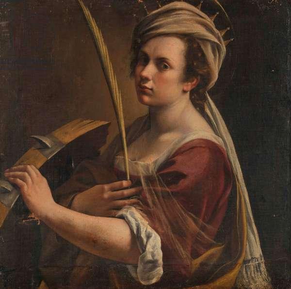 Self-Portrait as Saint Catherine of Alexandria, c.1616 (oil on canvas)