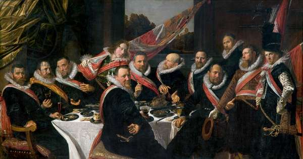 A Banquet of the Officers of the St. George Militia Company, 1616 (oil on canvas)