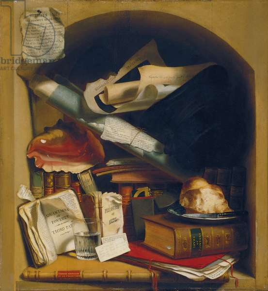 Poor Artist's Cupboard, c.1815 (oil on panel)