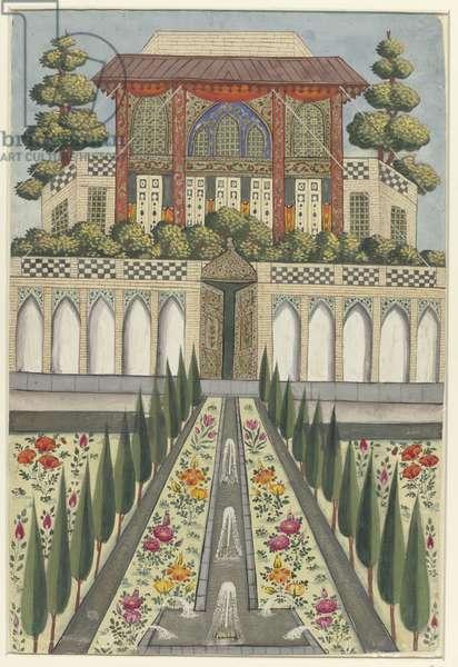 Palace Garden of Hazar Jarib in Aliabad, 1600-49 (gouache on paper))