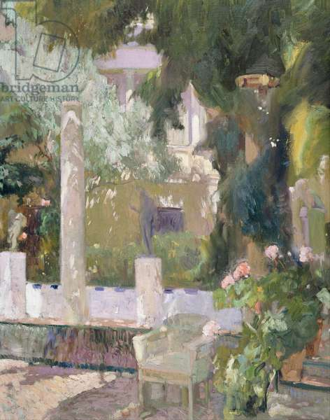 The Gardens at the Sorolla Family House, 1920 (oil on canvas)