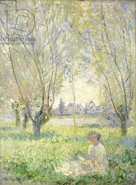 Woman seated under the Willows, 1880 (oil on canvas)