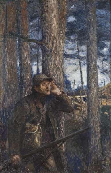 A Poacher, 1894 (oil on canvas)