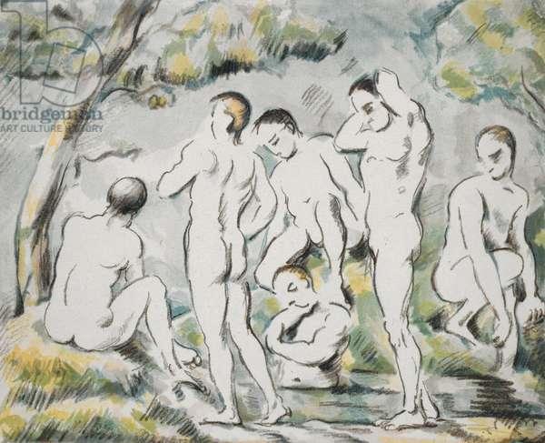 Les Baigneurs, Petite planche, 1896-97 (lithograph)