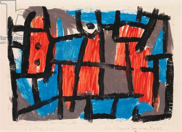 The Hour Before One Night, 1940 (gouache on paper mounted on cardboard)