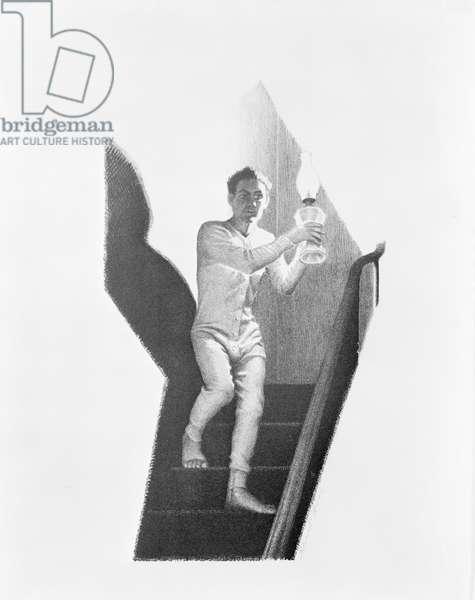 Midnight Alarm, 1939 (lithograph)