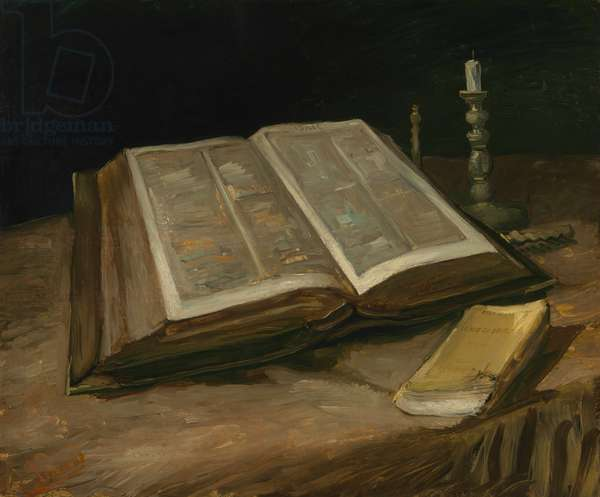 Still Life with Bible, 1885 (oil on canvas)
