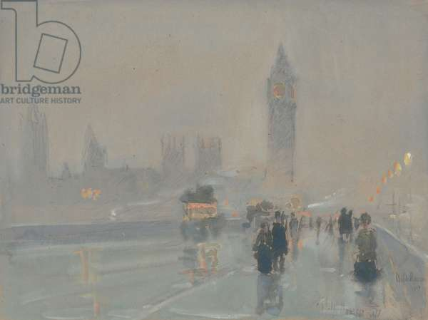 Big Ben, 1897 or 1907 (gouache and watercolour on paper)