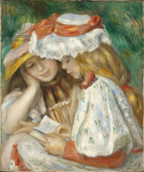 Two Girls Reading, 1890-1 (oil on canvas)