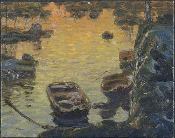 A Spring Night during the Fishing Season. Study from Lofoten, 1910 (oil on canvas)