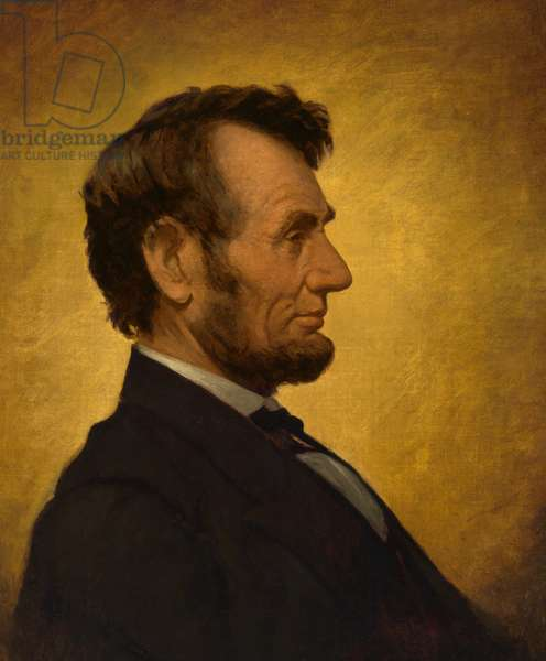 Abraham Lincoln (1809- 1865), 1864 (oil on canvas)