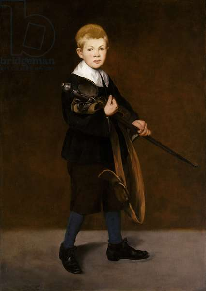 Boy with a Sword, 1861 (oil on canvas)