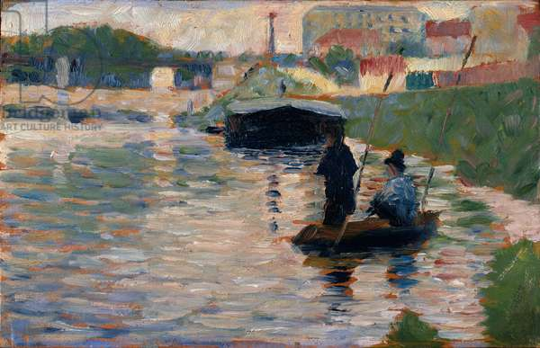 View of the Seine, 1882-83 (oil on wood)