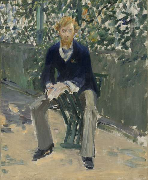 George Moore in the Artist's Garden, c.1879 (oil on canvas)