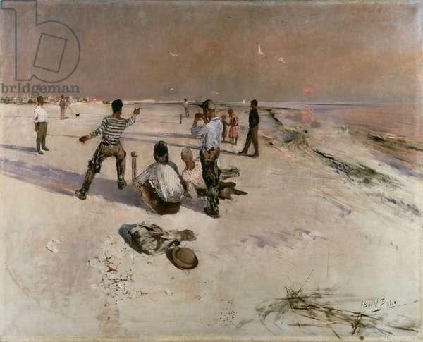 Men Warping (oil on canvas)