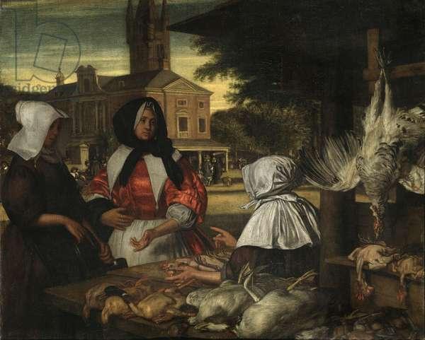The Birdmarket, Amsterdam, c.1660-70 (oil on canvas)